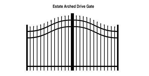 Estate Arched Drive Gate