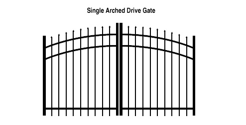 Single Arched Drive Gate