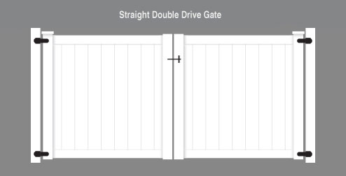 Straight Double Drive Gate