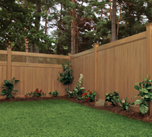 Vinyl fence with cambium