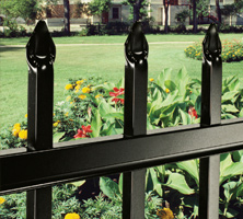 Aluminum fence with Corigin