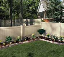 vinyl fence with GlideLock technology