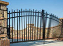 Marble Double Drive Single Arch Gate Black