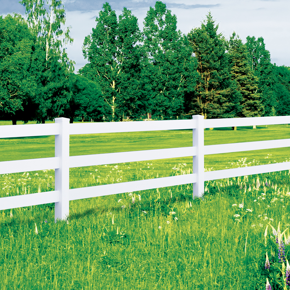 Vinyl Fencing Security Fence 3 Amp 4 Rail Ranch
