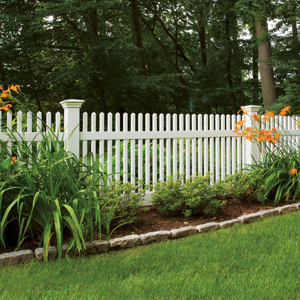 Vinyl Fencing Security Fence Chestnut Straight