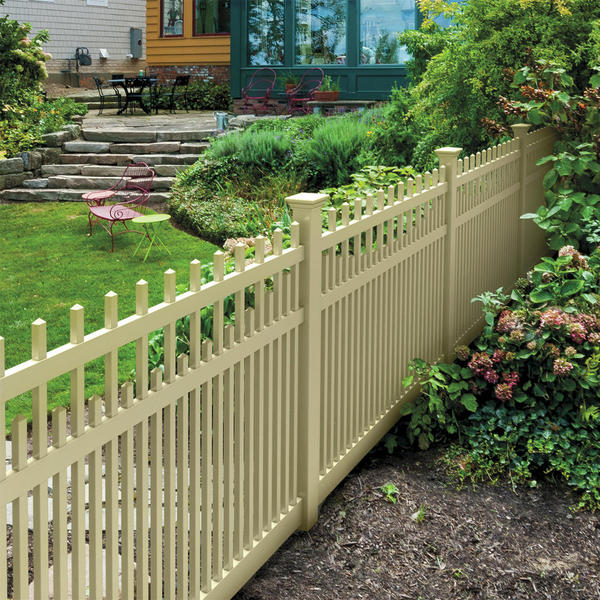 Vinyl Fencing Decorative Fence Chestnut Scallop