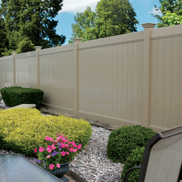 Tongue And Groove Vinyl Fence 6 High Privacy Panel 1x5