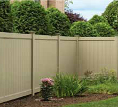 vinyl fence with StayStraight