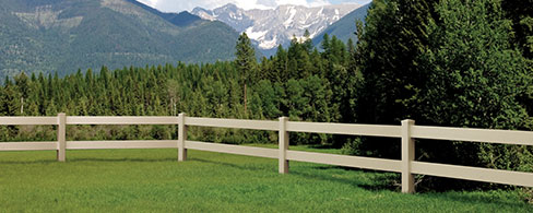 2 Rail Ranch decorative fence