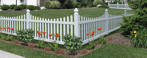 Primrose Scallop decorative fence