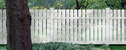 Barberry vinyl decorative fence