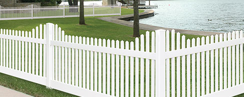chestnut stepped decorative fence - Decorative Fencing