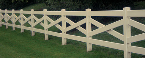 Crossbuck decorative fence