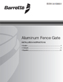 Aluminum Fence Gates installation manual