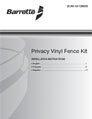Privacy Vinyl Fence Kit installation manual